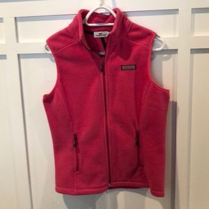 Women's Vineyard Vines Pink Fleece Vest Size XS